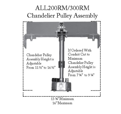 Aladdin-Chandelier Pulley Assembly (200-300RM)