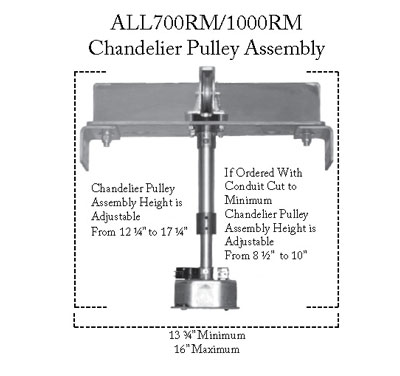 Aladdin-Chandelier Pulley Assembly (700-1000RM)